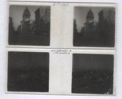 Lot De 2 Plaques De Verre Stéréo - San Francisco - Plaques 4,5 X 10,5 Cm - Plaques De Verre