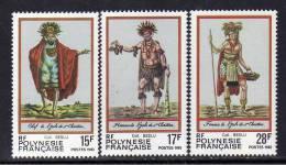 Polynésie N° 202 / 04 XX Folklore Polynésien  Les 3 Valeurs Sans Charnière, TB - Polynésie Française
