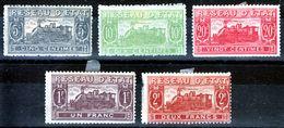 """FRANCE  1901 """"RESEAU D'ETAT """" 5 VALUES  MH     TRAIN - Nuovi"""