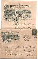 Nice - Hôtel De Luxembourg - Promenade Des Anglais - Enveloppe Et Lettre 1903 - Publicités