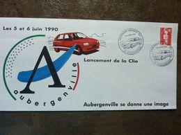 1990  RENAULT  Lancement De La Clio  Flins Aubergenville  Oblitéré - Storia Postale