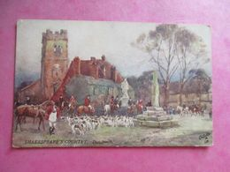 CPA ILLUSTRATEUR RAPHAEL TUCK   ROYAUME UNI SHAKESPEARE'S COUNTRY DUNCHURCH CHASSE A COURRE - Tuck, Raphael