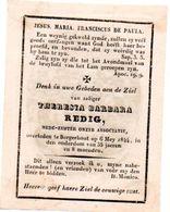 Redig Theresia Barbara 1808-1844 Borgerhout ZUSTER - Non Classés