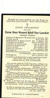 Doodsprentje   Pastoor Priester Cure    HONORE VAN LANCKER  MASSEMEN 1833 LIERDE ZWALM  VELZEKE OUDENAARDE 1906 - Religion & Esotérisme