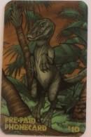 USA - Dinosaur 3D,Karis Communications Prepaid Card 10 Dollars, Tirage 2000, Mint - Etats-Unis