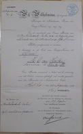 ORDE VAN ORANJE-NASSAU TOT, OFFICIER M. C. VAN HATTEM AANNEMER LE SANTA FE. ANNEE 1906, PAYS-BAS. WILHELMINA -LILHU - Documentos Históricos