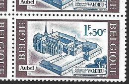1386-V1 En Bloc De 4 Timbres - Variété V1 T6 Puit Dans Le Cour  (Alb. Noir N° 38) - Variétés Et Curiosités