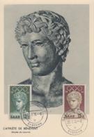 Carte   Maximum   1er   Jour    SARRE     JEUX   OLYMPIQUES   De   MELBOURNE   1956 - Verano 1956: Melbourne