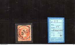 FRANCE OBLITÉRÉ - N°23 (Dourdan )dent Courte - 1862 Napoléon III