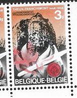 1449-V1 En Paire Coin De Feuille - Variété V1 P4 T30 La Flamme Coule (Alb. Noir N° 39) - Variétés Et Curiosités