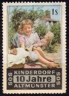 Puppet Baby Girl Toy ALTMÜNSTER 1959 Austria Children SOS City SOS-Kinderdorf Charity Cinderella Vignette Label - Puppets