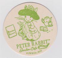Beer Mat Garden Café From Japan - Peter Rabbit - Benjamin Bunny - Portavasos