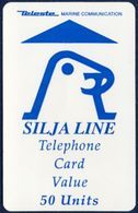 FINLAND - FINNLAND SILJA LINE FERRY BOAT MARINE TELECOMMUNICATIONS 50 UNITS TELECARTE MAGNETIC PHONECARD USED - Finnland