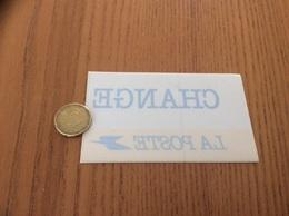 AUTOCOLLANT, Sticker Inversé *x «CHANGE - LA POSTE» - Pegatinas