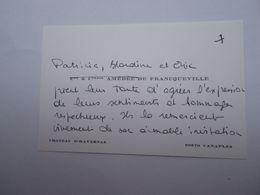 Comte Et Comtesse AMEDEE DE FRANQUEVILLE - Canaples - Tarjetas De Visita