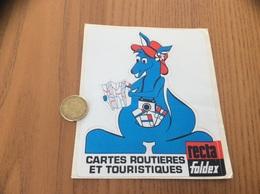 AUTOCOLLANT, Sticker «CARTES ROUTIERES ET TOURISTIQUES - Recta Foldex» (kangourou) - Pegatinas
