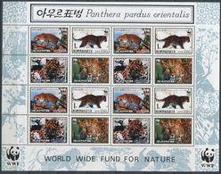 264 - COREE NORD 1998 - Yvert 2801/04 En Feuille - WWF Felin Panthere - Neuf ** (MNH) Sans Trace De Charniere - Corea Del Norte