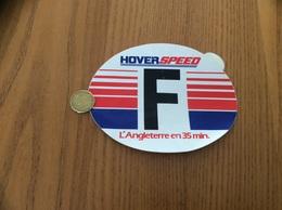 AUTOCOLLANT, Sticker «F - HOVERSPEED - L'Angleterre En 35 Min.» - Pegatinas
