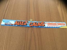 AUTOCOLLANT, Sticker «ALLEZ VIA CALAIS - TOWNSEND THORESEN (TT) European Ferries» (Ferry) - Pegatinas