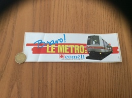 AUTOCOLLANT, Sticker * «Bravo LE MÉTRO -  (LILLE 59) - Pegatinas