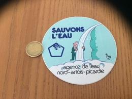 AUTOCOLLANT, Sticker «AGENCE DE L'EAU NORD ARTOIS PICARDIE - Sauvons L'eau» Illustration Trez - Pegatinas