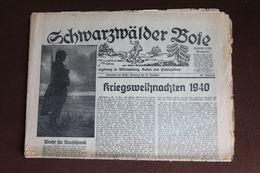 Schwarzwälder Bote; Oberndorf A. N. Weihnachten 24.12.1940; Original-Tageszeitung - Magazines & Newspapers