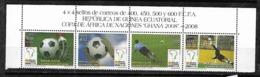 &37& GUINEA ECUATORIAL 2008 EDIFIL 404/407 MNH** SOCCER, FUTBOL. - Guinea Equatoriale