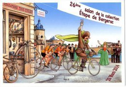 VEYRI  -  BERGERAC  ETAPE DE BERGERAC   26 ° SALON DE BERGERAC  2014  -  LE VELO ET SON HISTOIRE - Veyri, Bernard