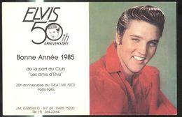 """Calendrier Du Club """" Les Amis D'Elvis """" 1985  - 11 X 17 Cm Déplié - Calendari"""