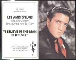 """Calendrier Du Club """" Les Amis D'Elvis """" 1989  - 13 X 16 Cm Déplié - Calendari"""