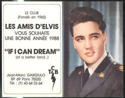 """Calendrier Du Club """" Les Amis D'Elvis """" 1988  - 13 X 16 Cm Déplié - Calendari"""