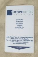 Llave Magnetica De Hotel: Europe - Autres Collections