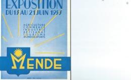 EXPOSITION COMMERCIALE À MENDE DE 1953 - Programmes
