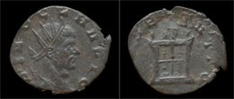 Divo Claudius II Gothicus Billon Antoninianus Flaming Altar - 5. L'Anarchie Militaire (235 à 284)
