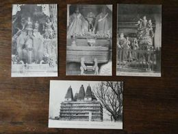 CHINE CHINA  4 Cartes Postales Anciennes  Pagode De La Fécondité  Carte Neuves - China