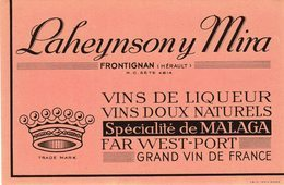 BUVARD -   Laheynsony Mira  -  Frontignan - Liqueur & Bière