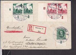 Einschreib Brief Deutsches Reich Sonderstempel München 1936 , Eckrand  (gi64) - Lettres & Documents