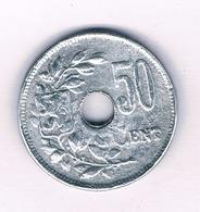 50 CENTIMES 1918 BELGIE /5387/ - 1909-1934: Albert I