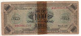 ITALY    AM Lire   1'000 Lire   FLP   1943A  ( WWII )  2nda Serie - Ocupación Aliados Segunda Guerra Mundial