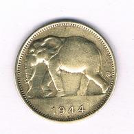 1 FRANC 1944 BELGISCH CONGO /5388/ - Congo (Belge) & Ruanda-Urundi