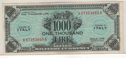 ITALY    AM Lire   1'000 Lire   FLP   1943A  ( WWII )  2nda Serie - [ 3] Emissioni Militari