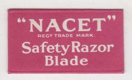 NACET SAFETY RAZOR BLADE - Lames De Rasoir
