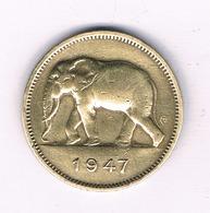 2 FRANC 1947  BELGISCH CONGO /5389/ - Congo (Belge) & Ruanda-Urundi