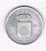 1 FRANC 1959   BELGISCH CONGO /5390/ - Congo (Belgian) & Ruanda-Urundi
