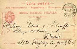 Entier Postal De 1892 Sur CP Oblitéré 1 XII 1902 - Interi Postali