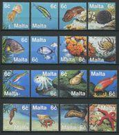 264 - MALTE 1999 - Yvert 1051/66 - Poisson Corail Coquillage - Neuf ** (MNH) Sans Trace De Charniere - Malta
