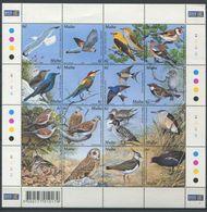 264 - MALTE 2001 - Yvert 1142/57 En Feuille - Oiseau - Neuf ** (MNH) Sans Trace De Charniere - Malta