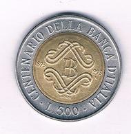 500 LIRE 1993   ITALIE / 5394// - 1946-… : République