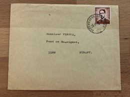 Lettre Ambulant Luxembourg-Bruxelles 25-8-72  Vers Dinant TB 4,5 FB Baudouin Lunettes - Postmark Collection