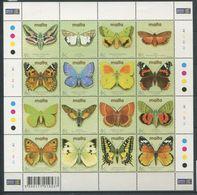 264 - MALTE 2002 - Yvert 1192/207 En Feuille - Papillon - Neuf ** (MNH) Sans Trace De Charniere - Malta